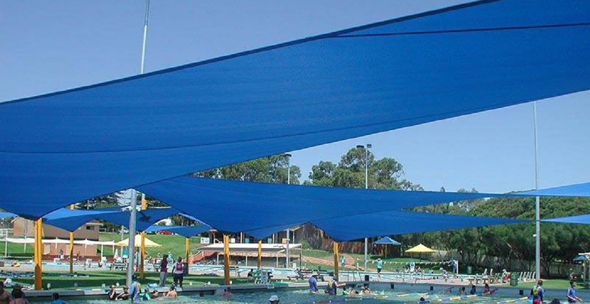 Shade Sails over swimming pool