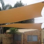 Shade Sails over patio area