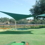 mini golf hypar shade sail