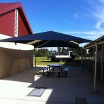 shade structure at a school