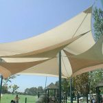 shadesails in a park