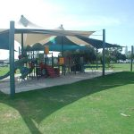 sunsails over playground