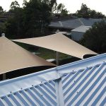 Shade Sails over a decking area