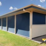 outdoor blinds enclosing room