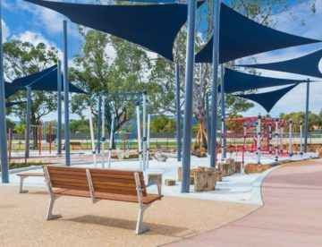 Commercial grade Shade Sails over playgrounds
