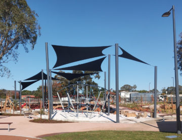 Wholesale Shade Sails over a Playground